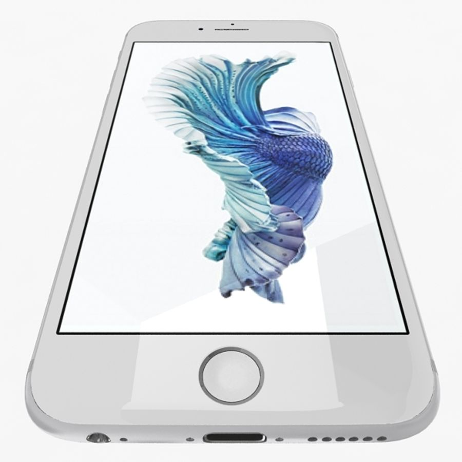 Apple iPhone 6s Silver royalty-free 3d model - Preview no. 7