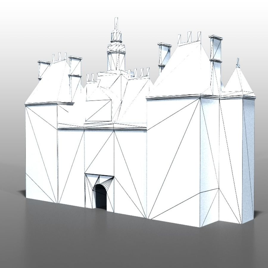 French house v2 royalty-free 3d model - Preview no. 6