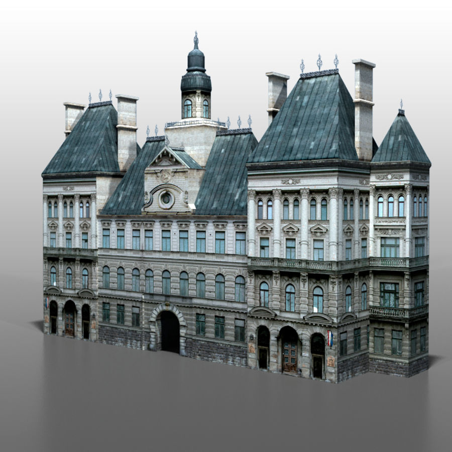 French house v2 royalty-free 3d model - Preview no. 5