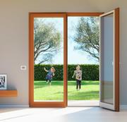 프랑스 이중 문 - 이중 문 창 3d model
