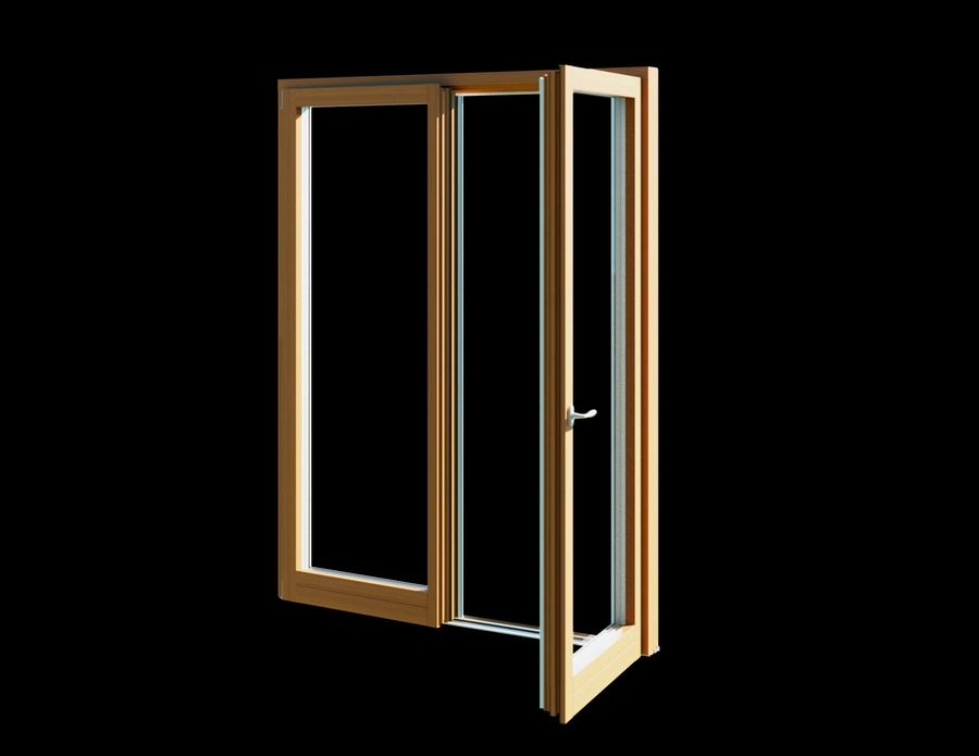 French Double Door - Double Door Window royalty-free 3d model - Preview no. 2