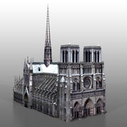 Notre Dame in Parijs 3d model