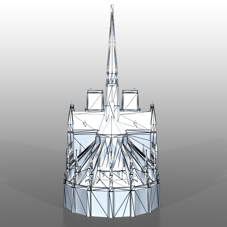 notre Dame de Paris royalty-free 3d model - Preview no. 12