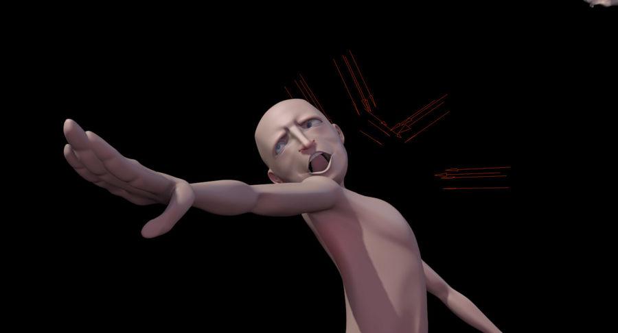 Animowane postacie z kreskówek royalty-free 3d model - Preview no. 11