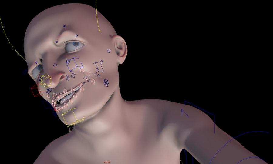 Animowane postacie z kreskówek royalty-free 3d model - Preview no. 17