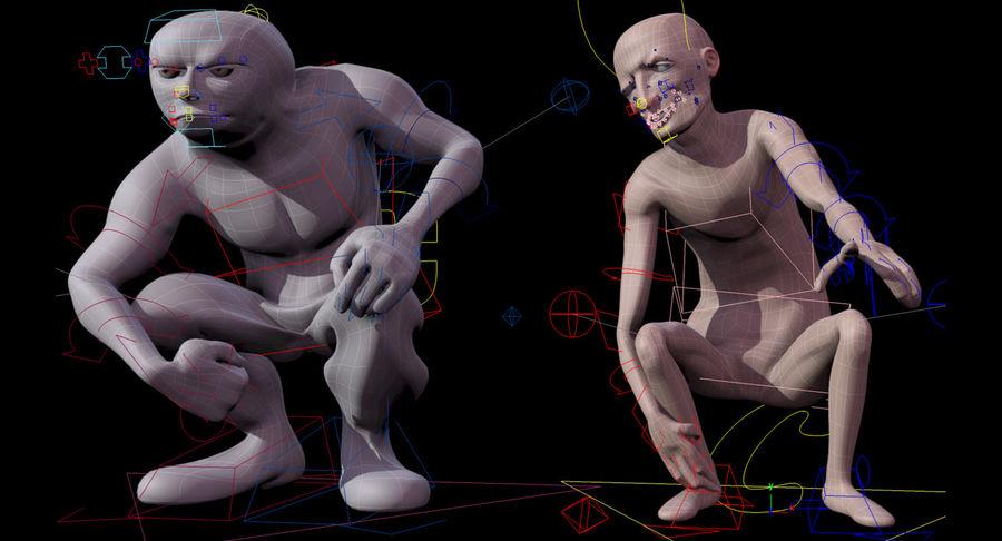Animowane postacie z kreskówek royalty-free 3d model - Preview no. 3