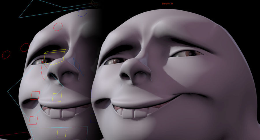 Animowane postacie z kreskówek royalty-free 3d model - Preview no. 8