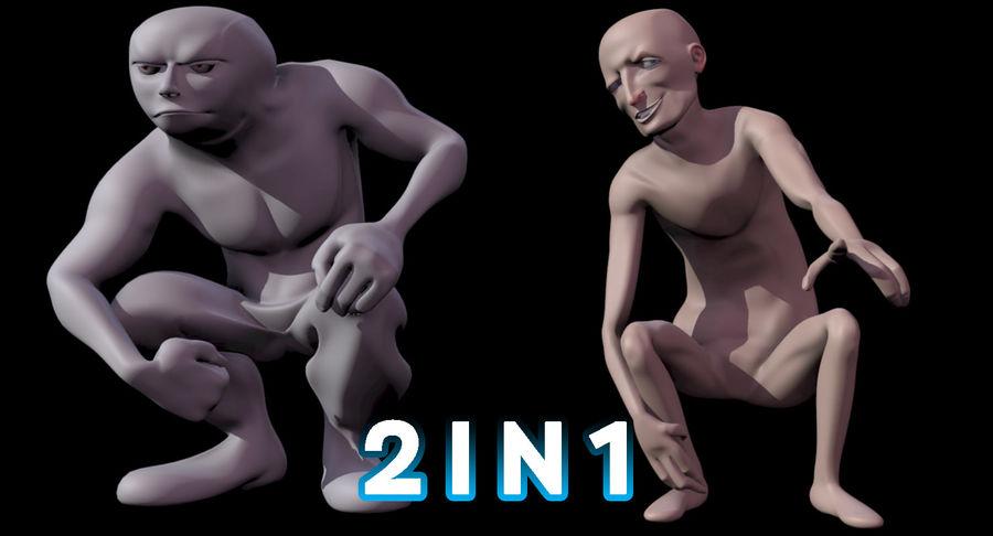 Animowane postacie z kreskówek royalty-free 3d model - Preview no. 2