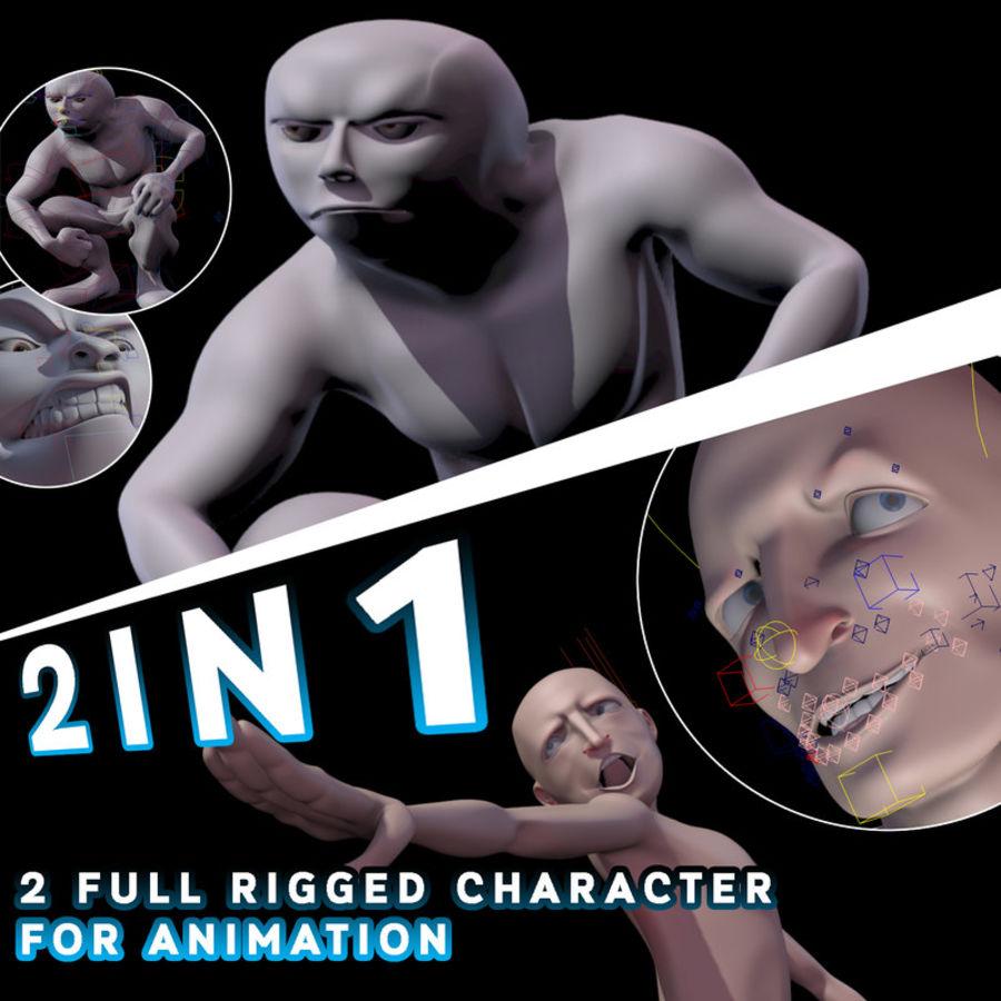 Animowane postacie z kreskówek royalty-free 3d model - Preview no. 1