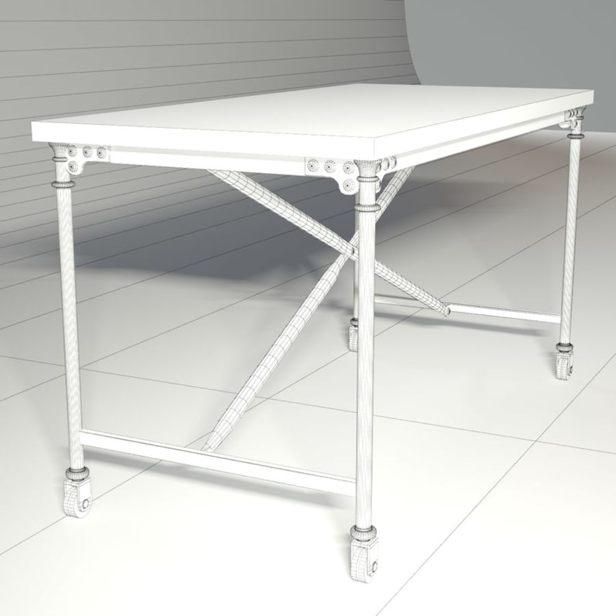 Restoration Hardware Flatiron Desk Royalty Free 3d Model Preview No 6