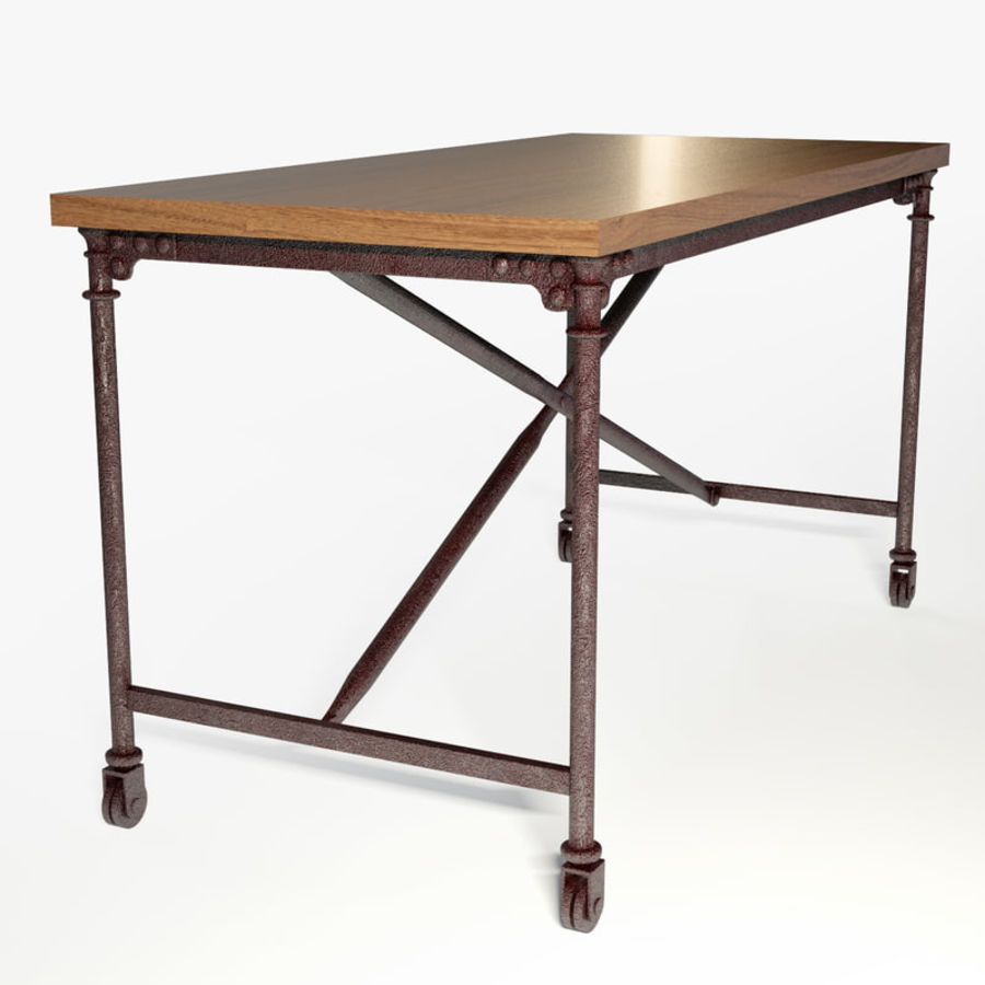 Restoration Hardware Flatiron Desk Royalty Free 3d Model Preview No 5