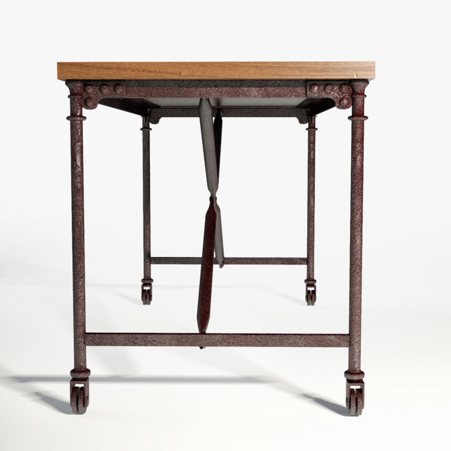 Restoration Hardware Flatiron Desk Royalty Free 3d Model Preview No 7