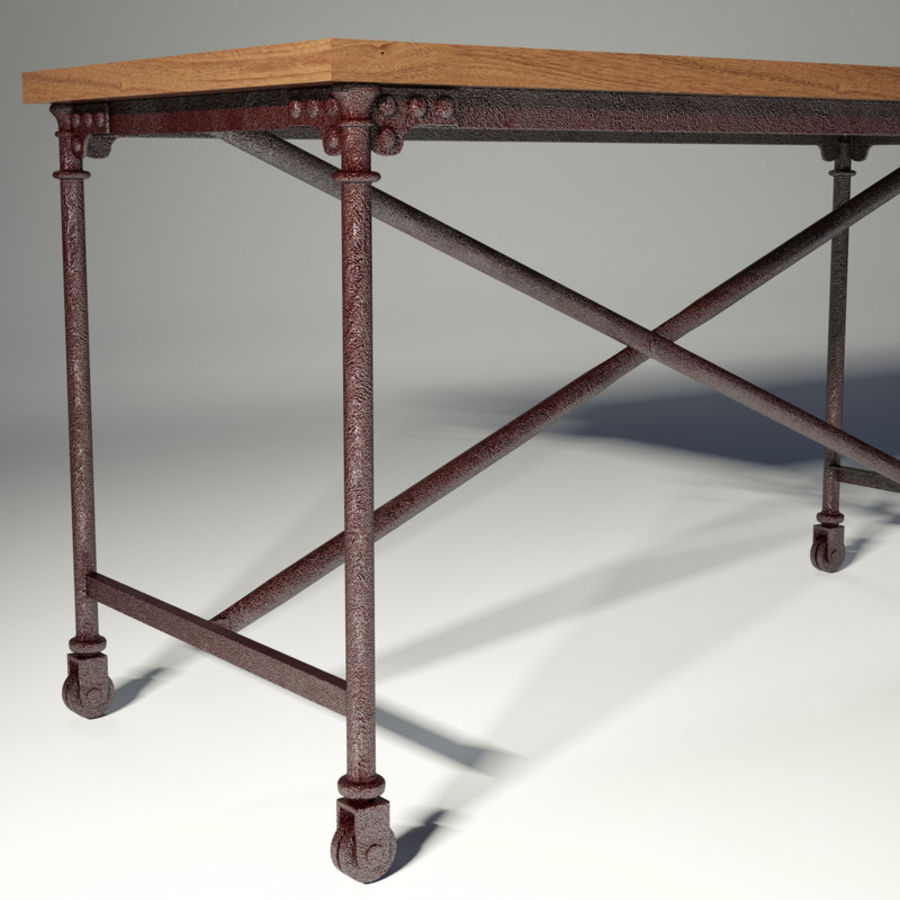 Restoration Hardware Flatiron Desk Royalty Free 3d Model Preview No 3