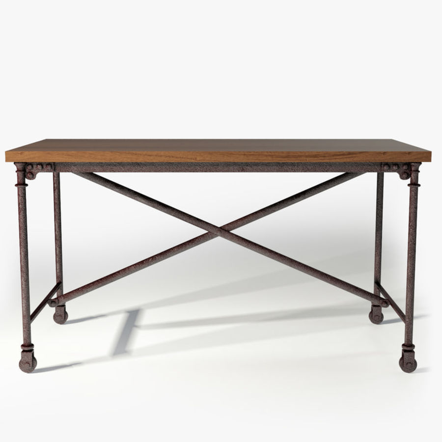 Restoration Hardware Flatiron Desk Royalty Free 3d Model Preview No 1