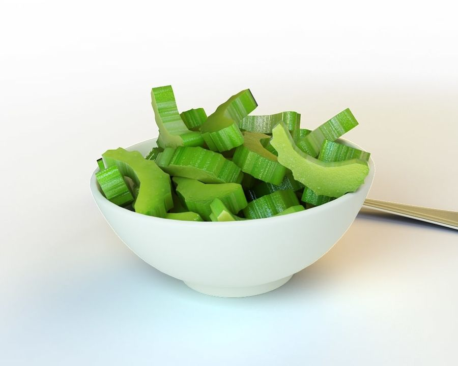 35_Sliced_Celery royalty-free 3d model - Preview no. 2