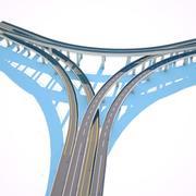 Junção de estrada 3 Octane 3d model
