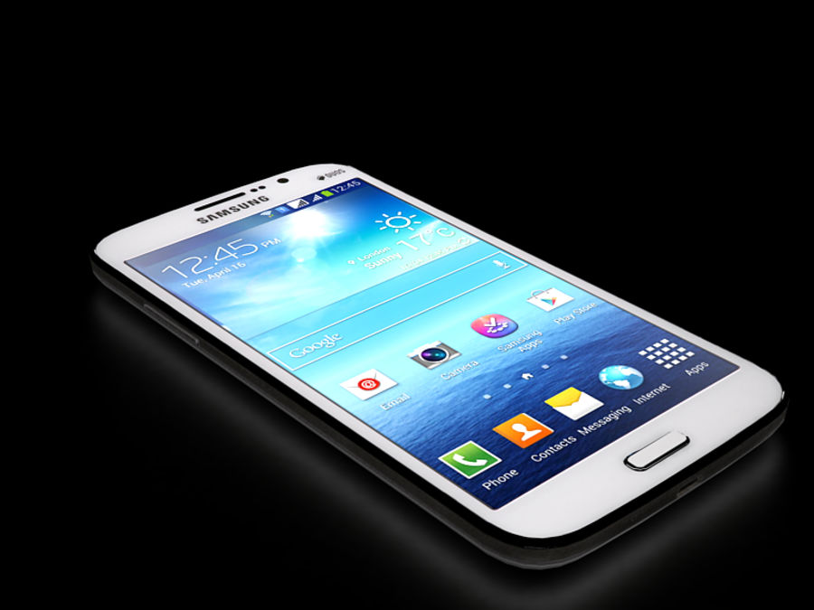 Samsung Galaxy Mega GTI-9152 royalty-free 3d model - Preview no. 3