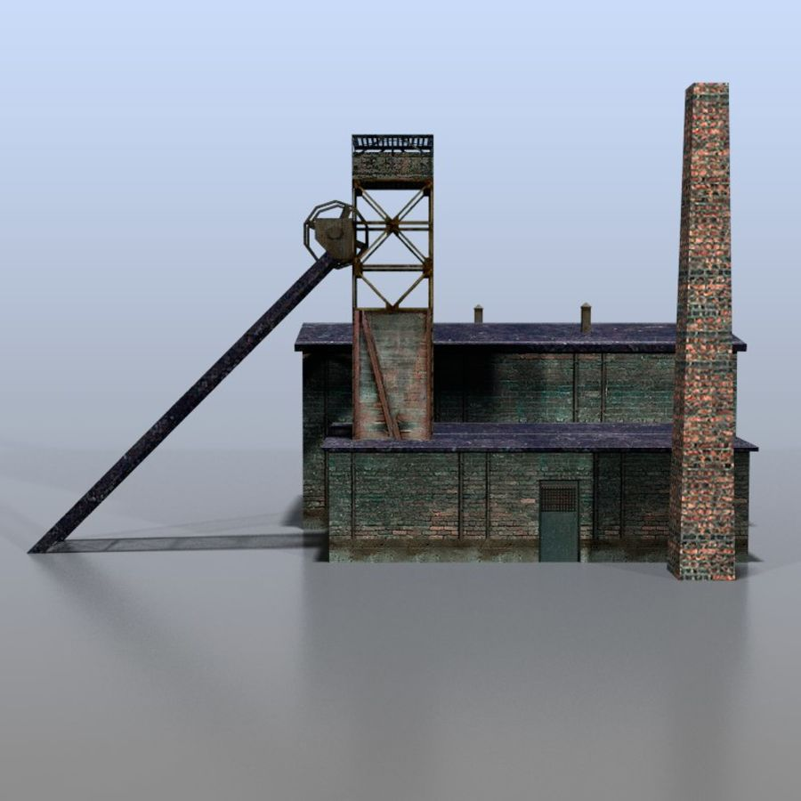 Coal mine royalty-free 3d model - Preview no. 2