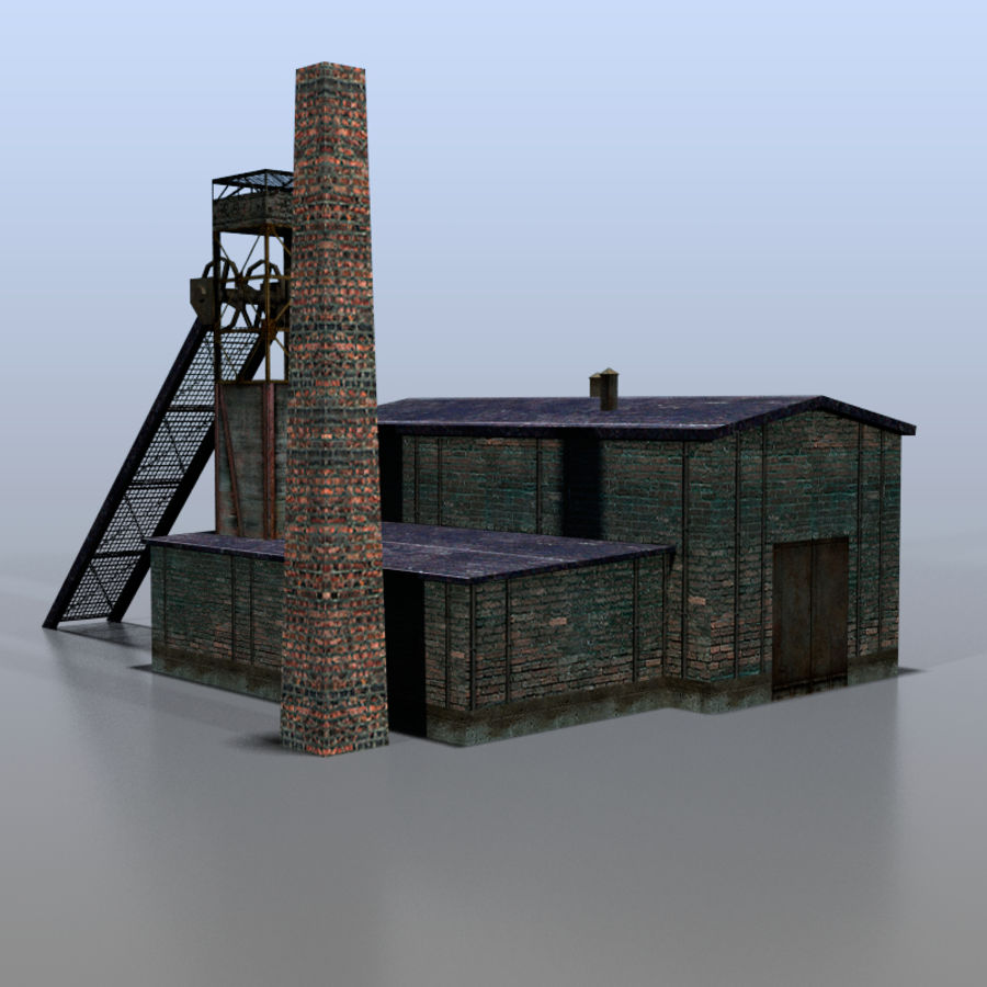 Coal mine royalty-free 3d model - Preview no. 3