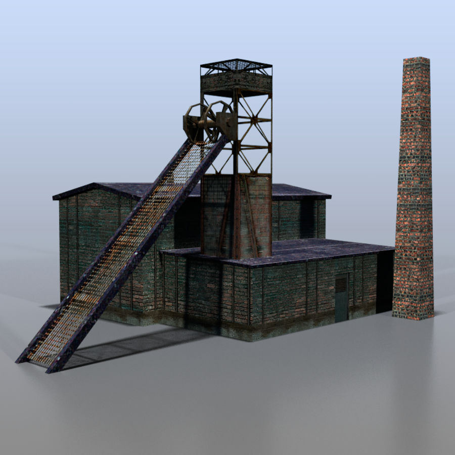 Coal mine royalty-free 3d model - Preview no. 1