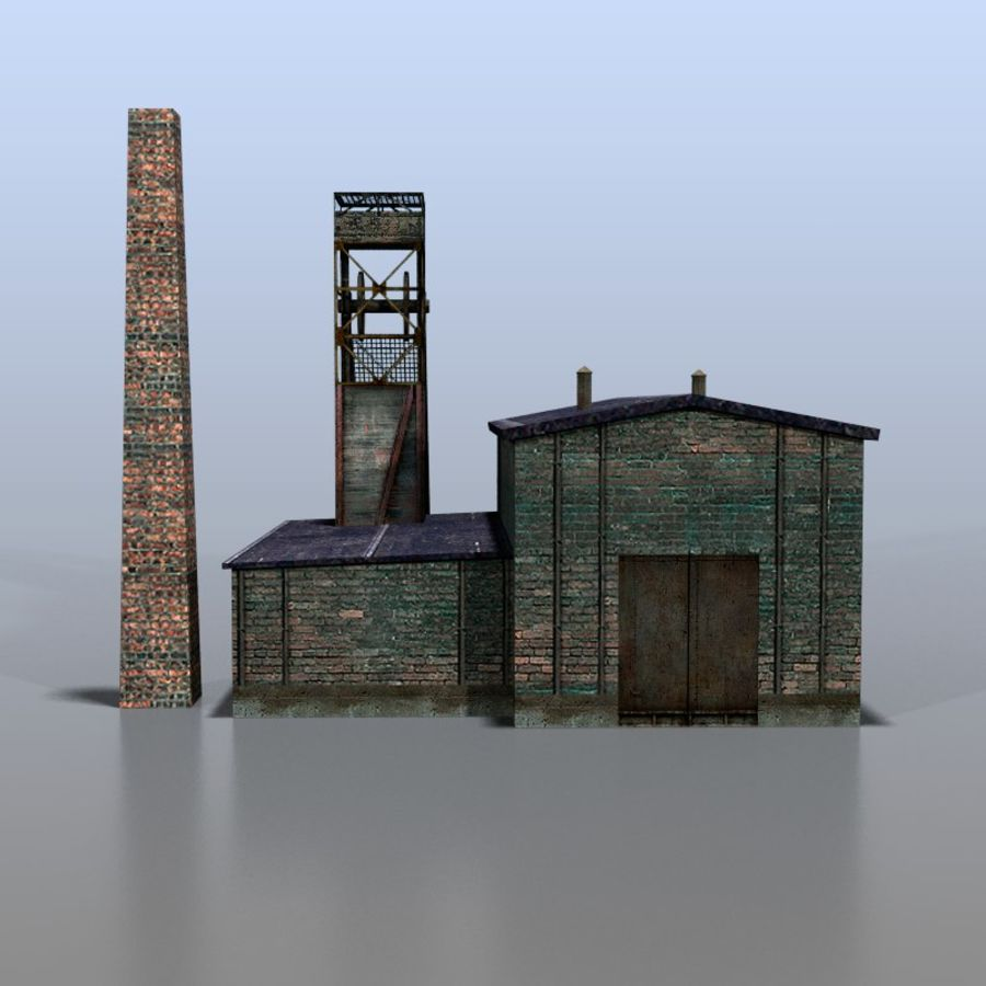 Coal mine royalty-free 3d model - Preview no. 4