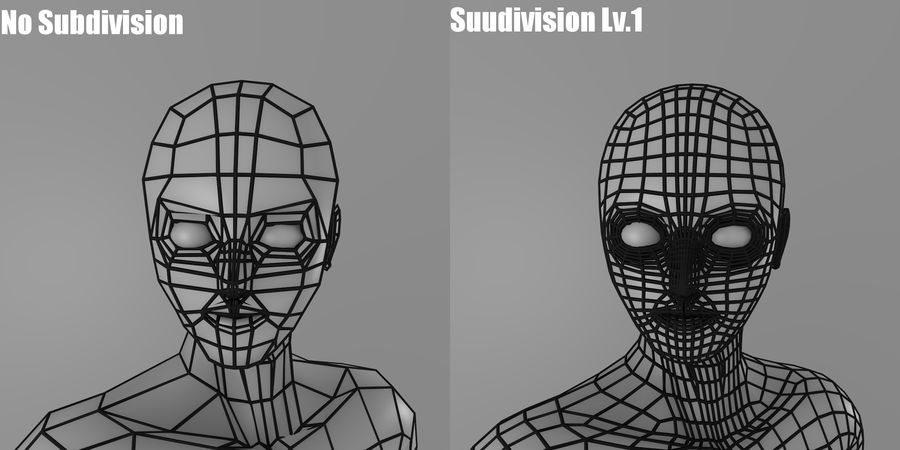 Simple Low-poly Base Mesh - Male royalty-free 3d model - Preview no. 7