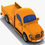 Toon Pickup Truck 3d model