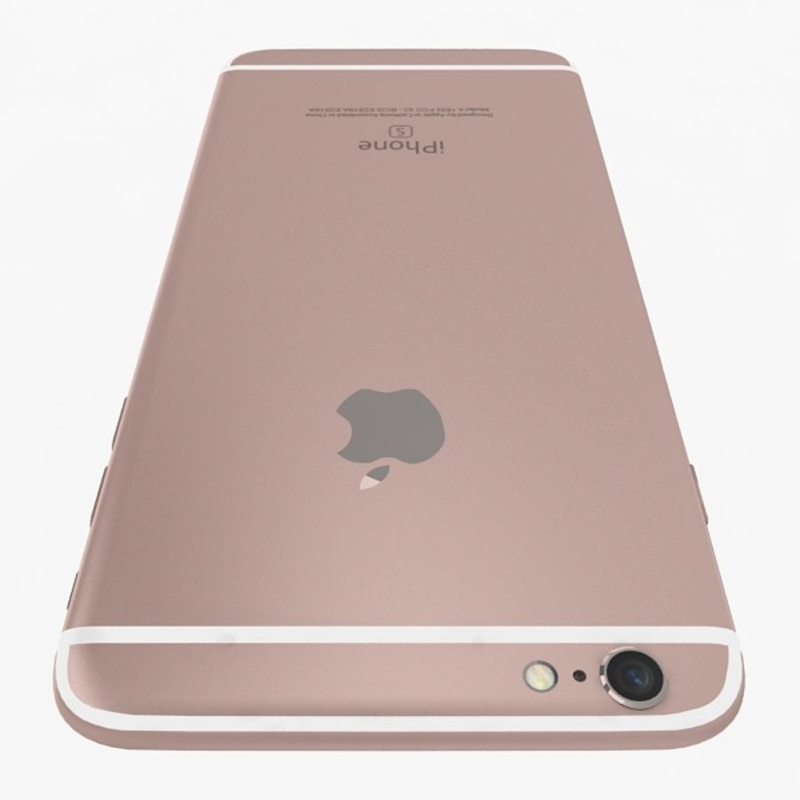 Apple iPhone 6s Plus Rose Gold royalty-free 3d model - Preview no. 6