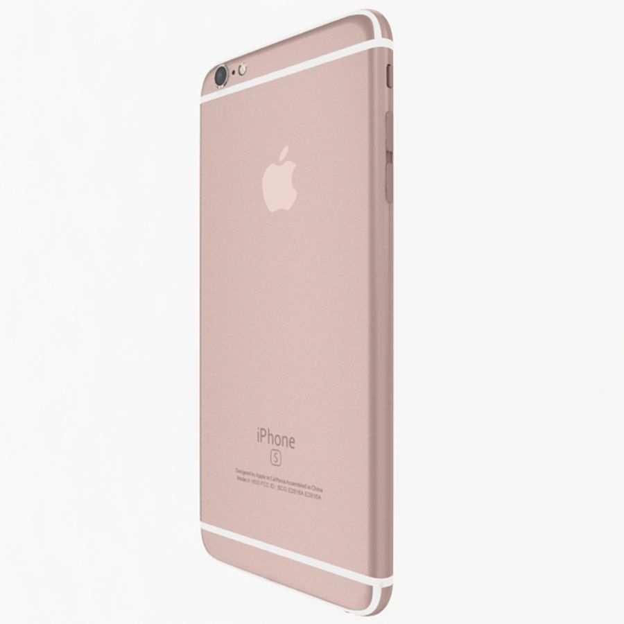 Apple iPhone 6s Plus Rose Gold royalty-free 3d model - Preview no. 4