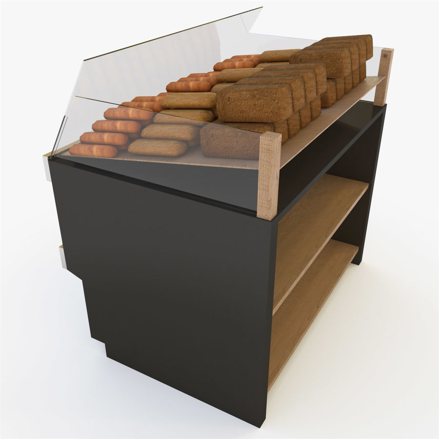 Bread Rack royalty-free 3d model - Preview no. 4