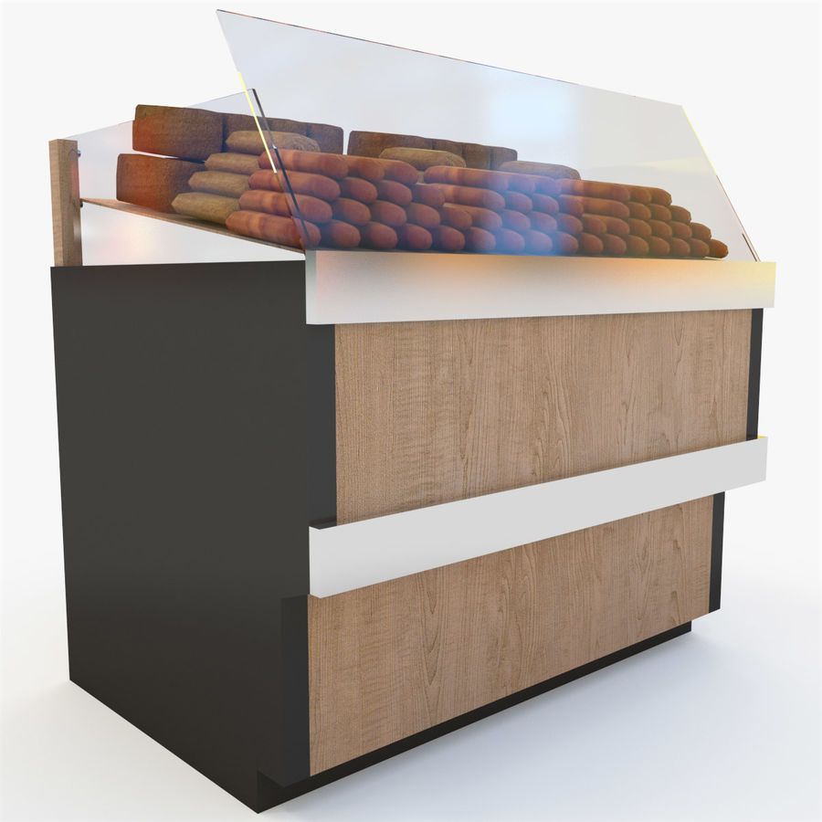 Bread Rack royalty-free 3d model - Preview no. 7