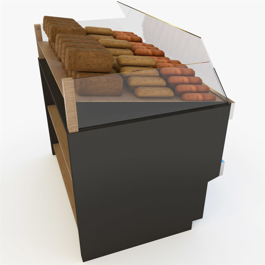 Bread Rack royalty-free 3d model - Preview no. 6
