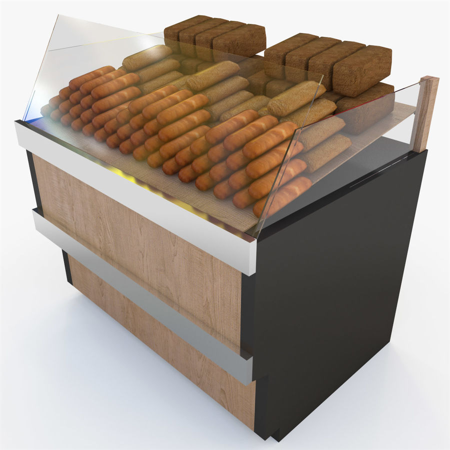 Bread Rack royalty-free 3d model - Preview no. 3