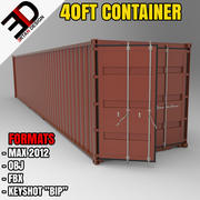3d 40FT container model 3d model