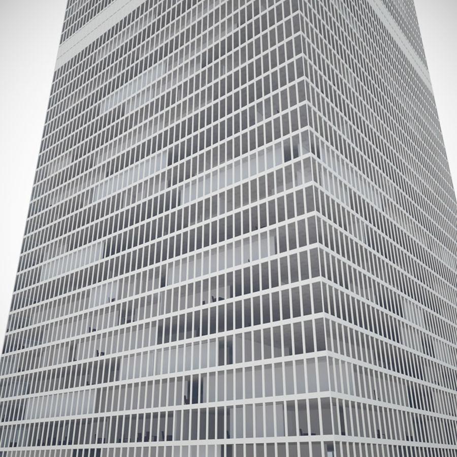 skyscraper glass royalty-free 3d model - Preview no. 2
