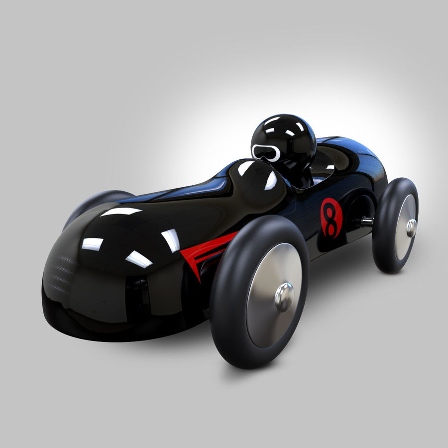 Carro de brinquedo royalty-free 3d model - Preview no. 2