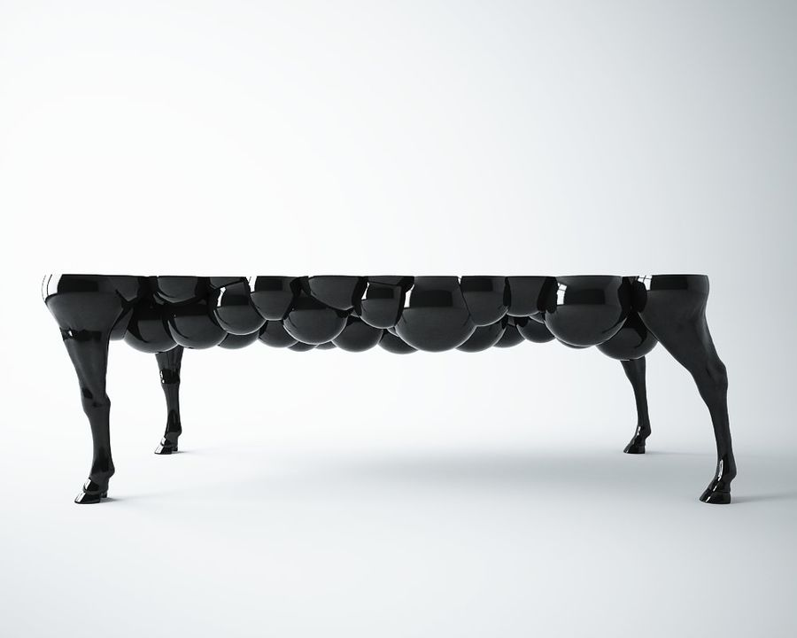 Genial Horse Leg Table Royalty Free 3d Model   Preview No. 1