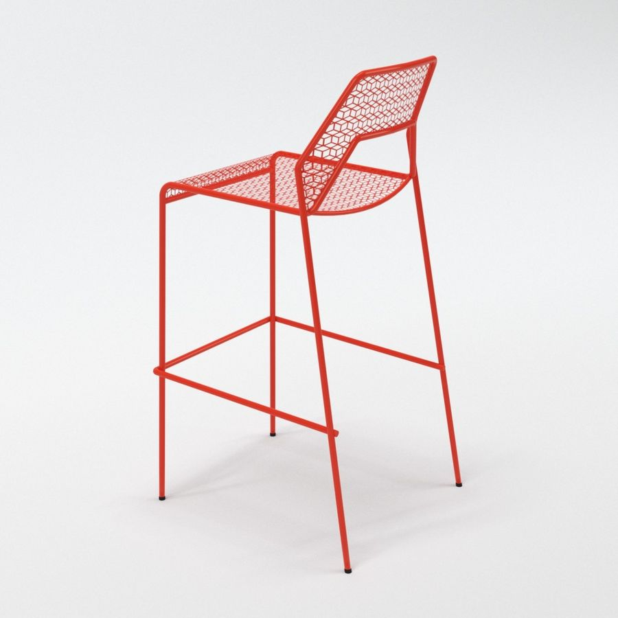 Blu Dot Hot Mesh Barstool royalty-free 3d model - Preview no. 8