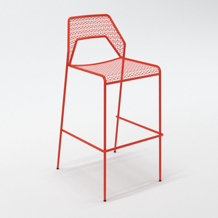 Blu Dot Hot Mesh Barstool royalty-free 3d model - Preview no. 2