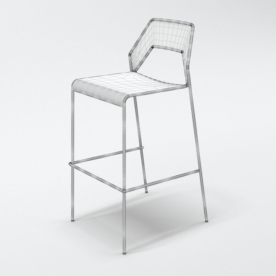 Blu Dot Hot Mesh Barstool royalty-free 3d model - Preview no. 7