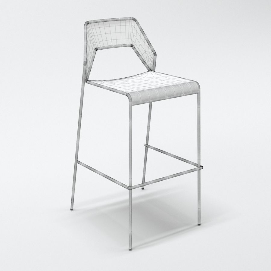 Blu Dot Hot Mesh Barstool royalty-free 3d model - Preview no. 3