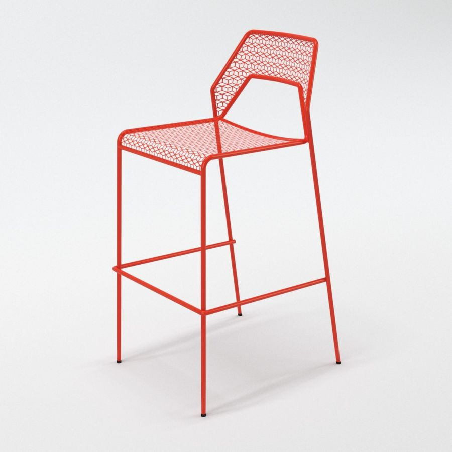 Blu Dot Hot Mesh Barstool royalty-free 3d model - Preview no. 6