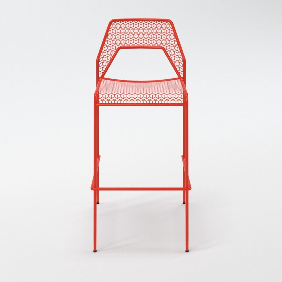Blu Dot Hot Mesh Barstool royalty-free 3d model - Preview no. 4