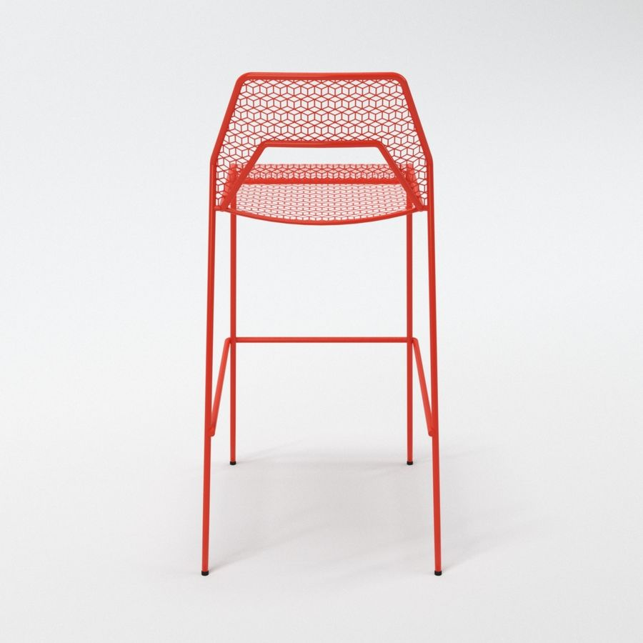 Blu Dot Hot Mesh Barstool royalty-free 3d model - Preview no. 10