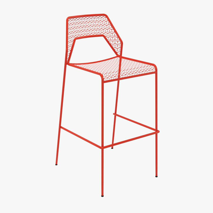 Blu Dot Hot Mesh Barstool royalty-free 3d model - Preview no. 1