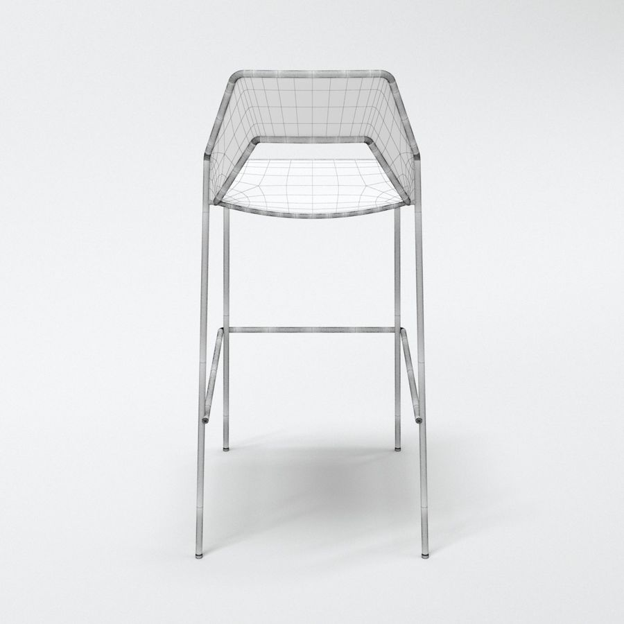 Blu Dot Hot Mesh Barstool royalty-free 3d model - Preview no. 11