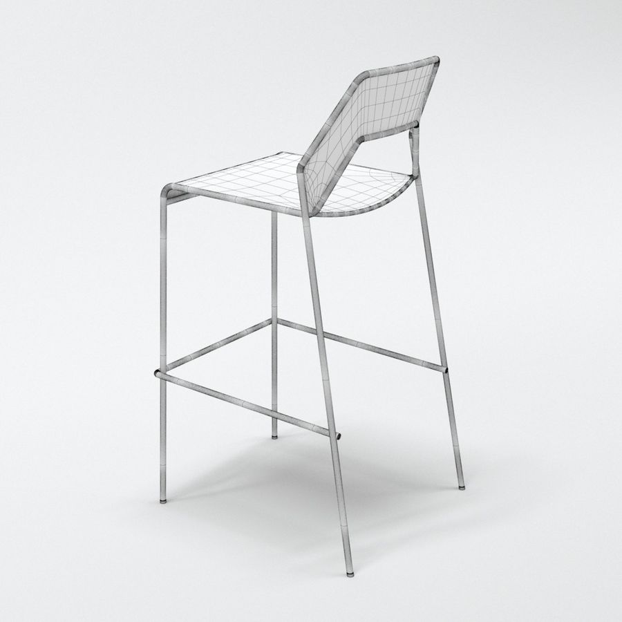 Blu Dot Hot Mesh Barstool royalty-free 3d model - Preview no. 9