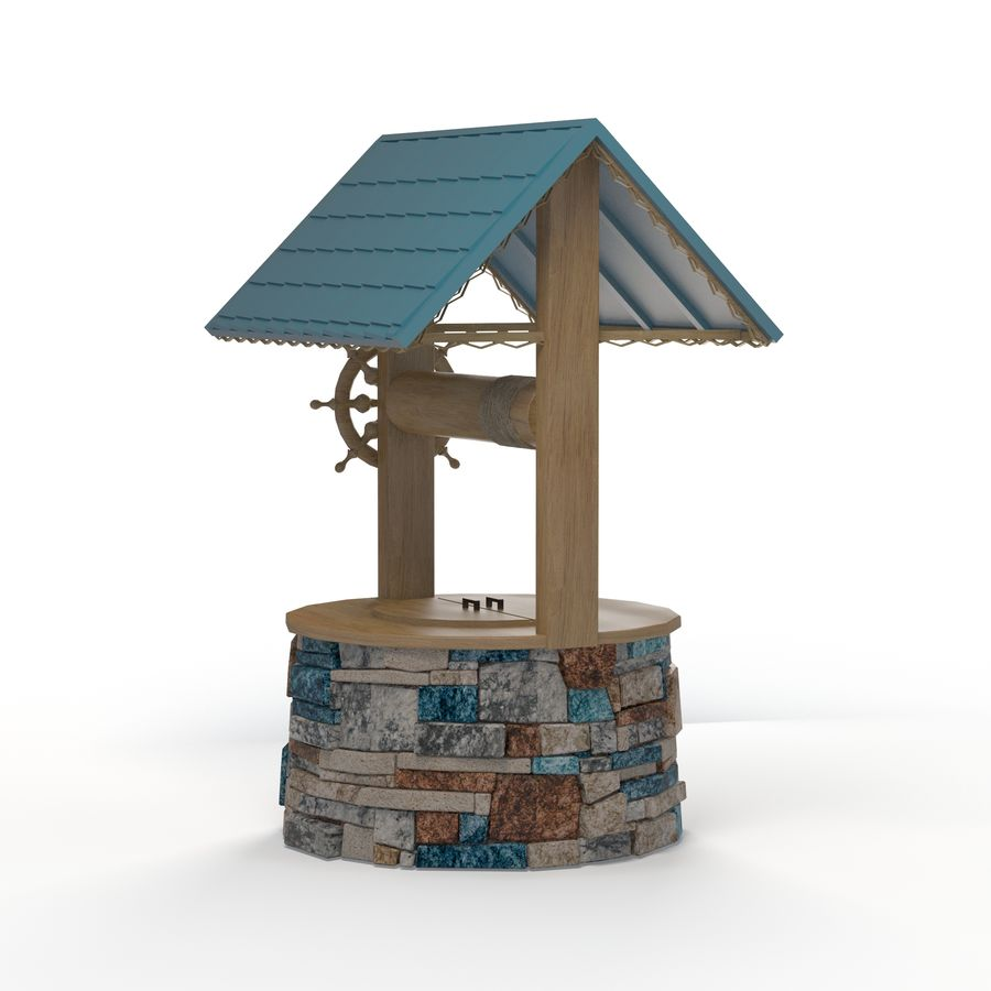 Water well magic royalty-free 3d model - Preview no. 3