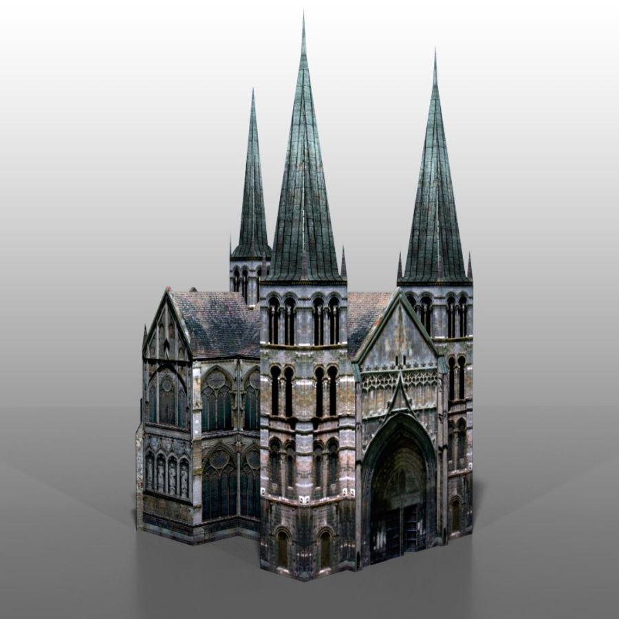 Church v2 royalty-free 3d model - Preview no. 1