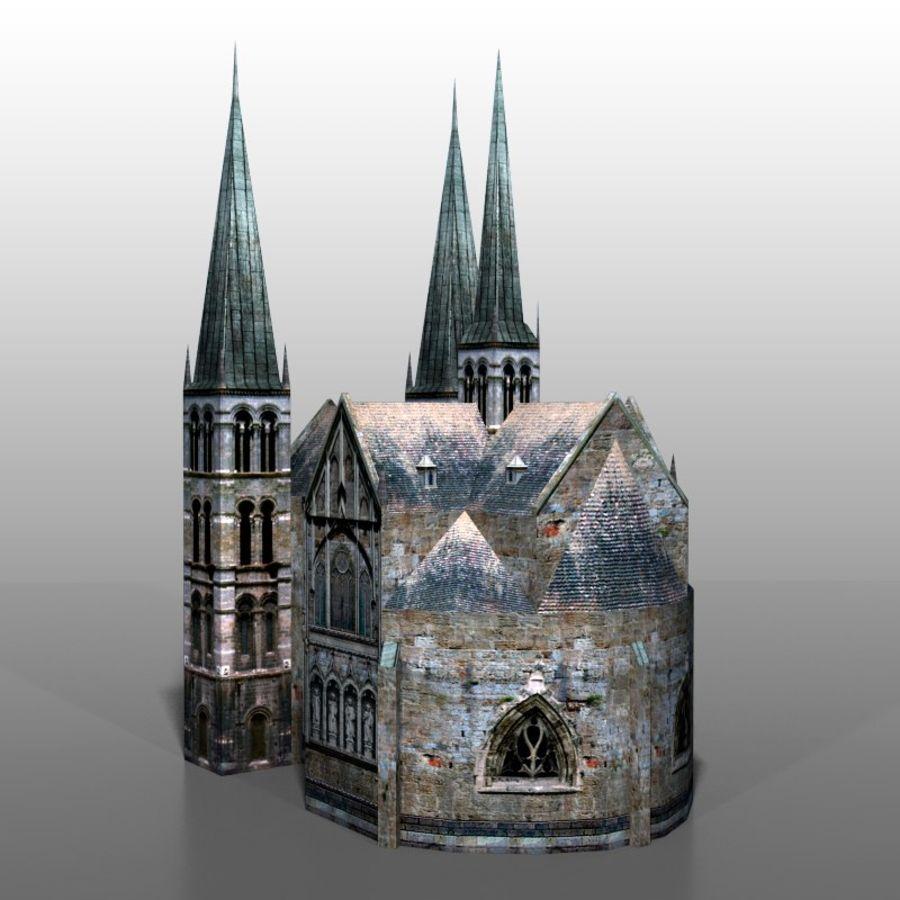 Church v2 royalty-free 3d model - Preview no. 4